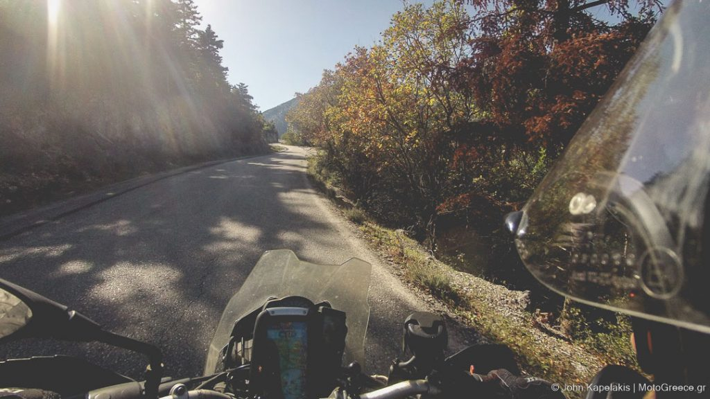 ride in Greece during autumn with MotoGreece.gr