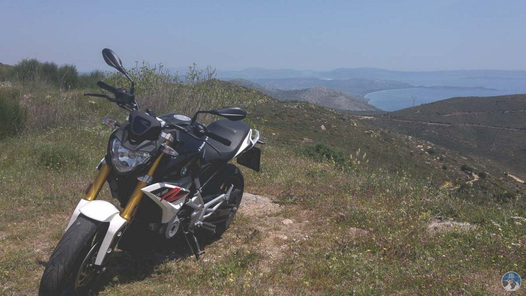 the BMW G310R of our demo ride