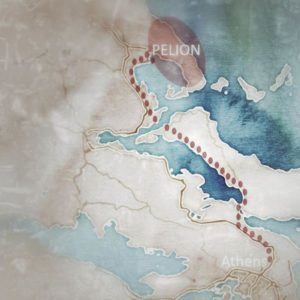 map of Pelion motorcycle tour