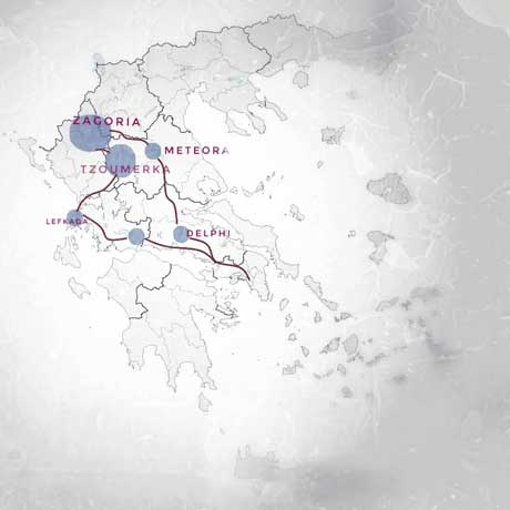 map of tour 10 days self guided central northwest greece