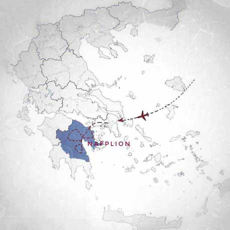 map of 3-4 days self guided tour of Peloponnese