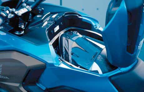 Honda NC750X storage compartment